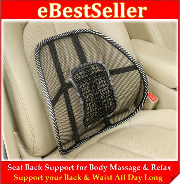 In Car Office Home Seat Back Support For Body Massage Relax