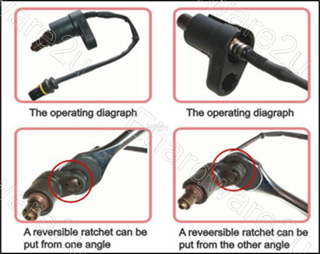 "Car Oxygen Sensor 1/2""DR Offset Deep Socket Tools 22mm (7/8"") (OS0122)"