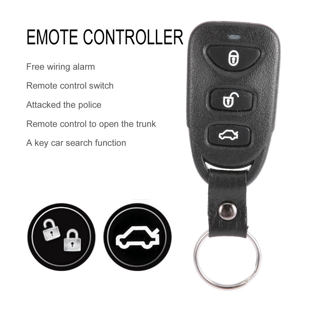 Car Remote Control Central Door Locking System Kits DC 12V Anti-theft