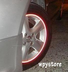 Car Rim Reflective Sticker Safety (up to 18inch wheel for 4 sides)