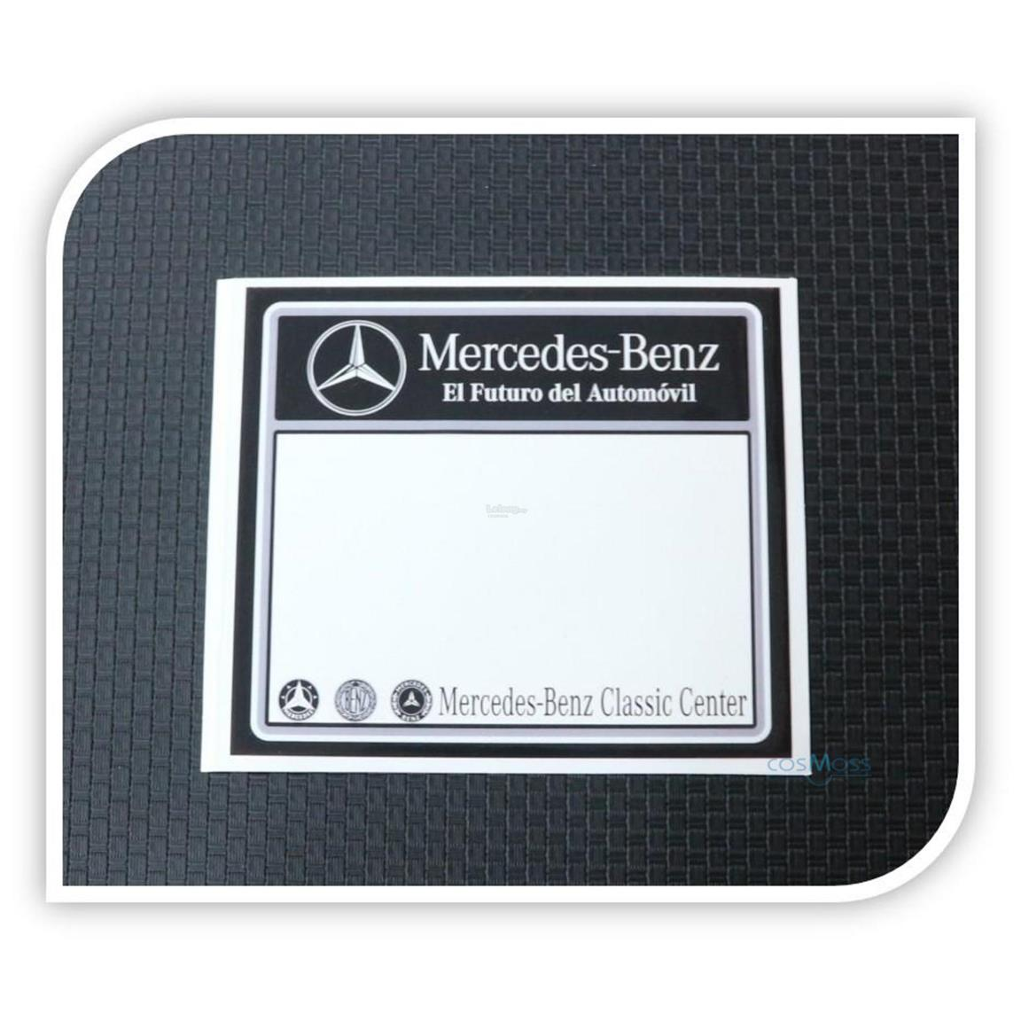 Car Road Tax Sticker Mercedes