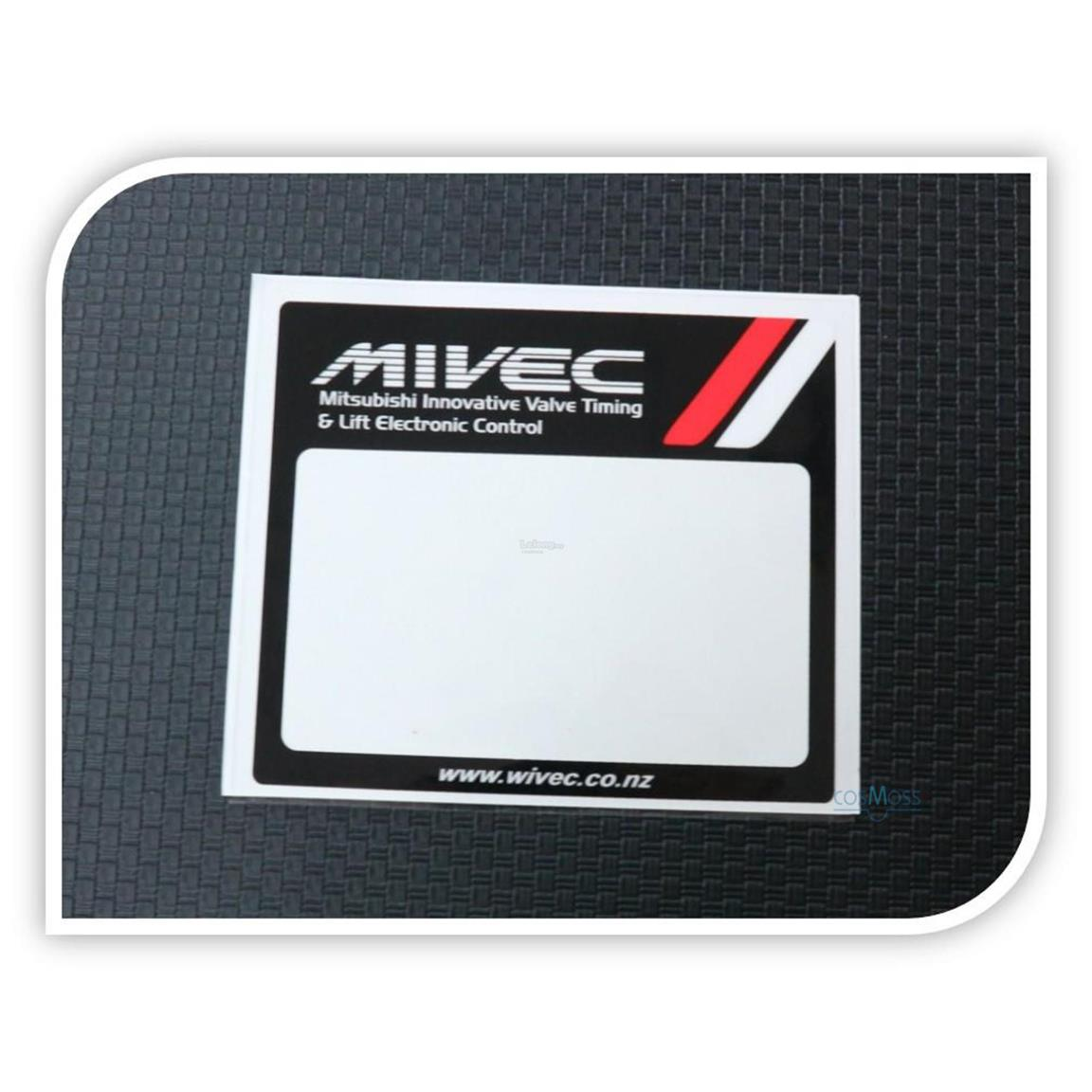 Car Road Tax Sticker MIVEC