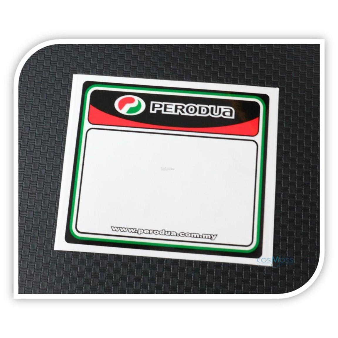 Car Road Tax Sticker PERODUA