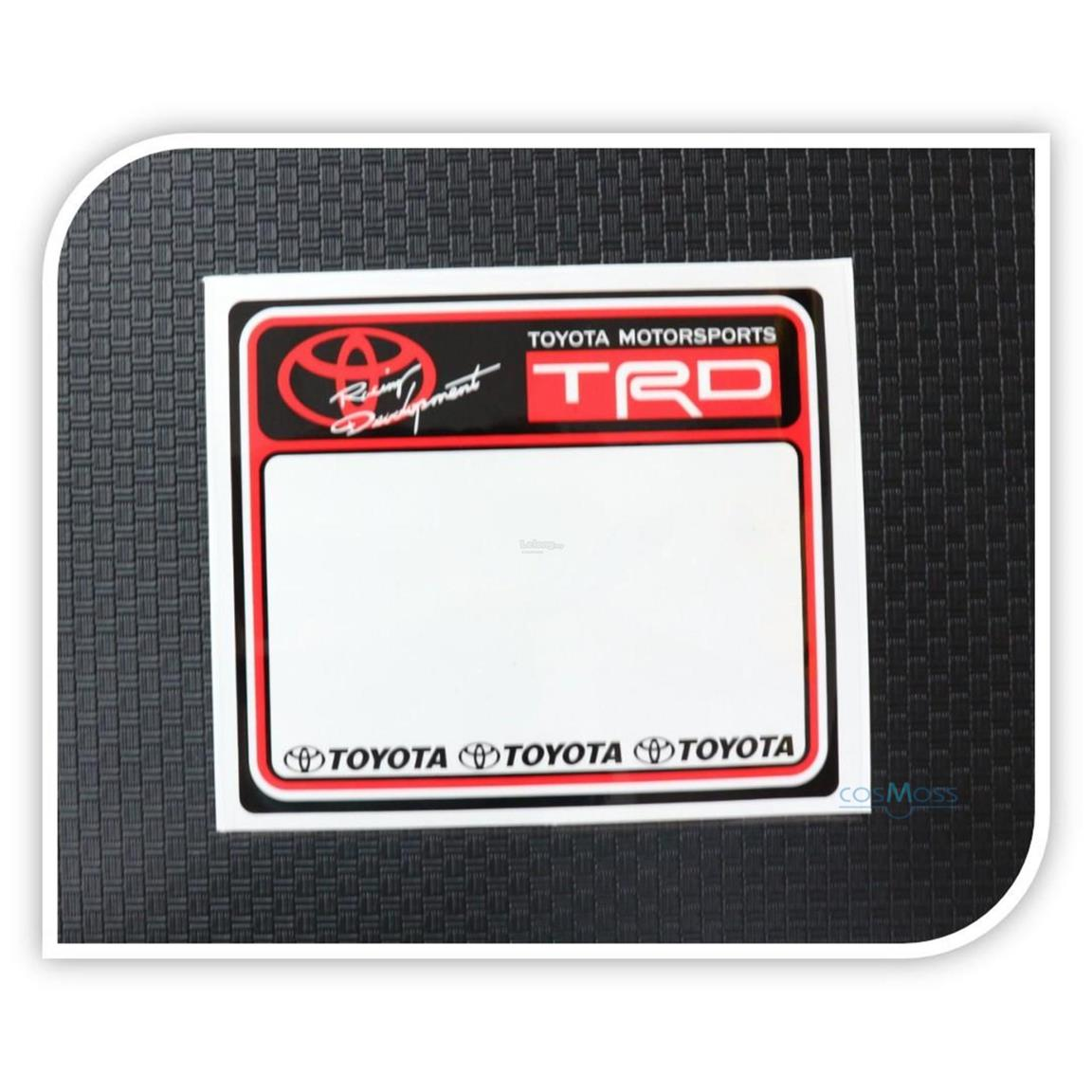 Car Road Tax Sticker TRD