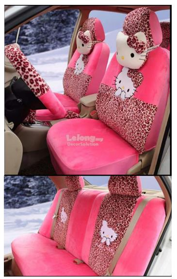 Car Seat Cover Hello Kitty Polka Dot
