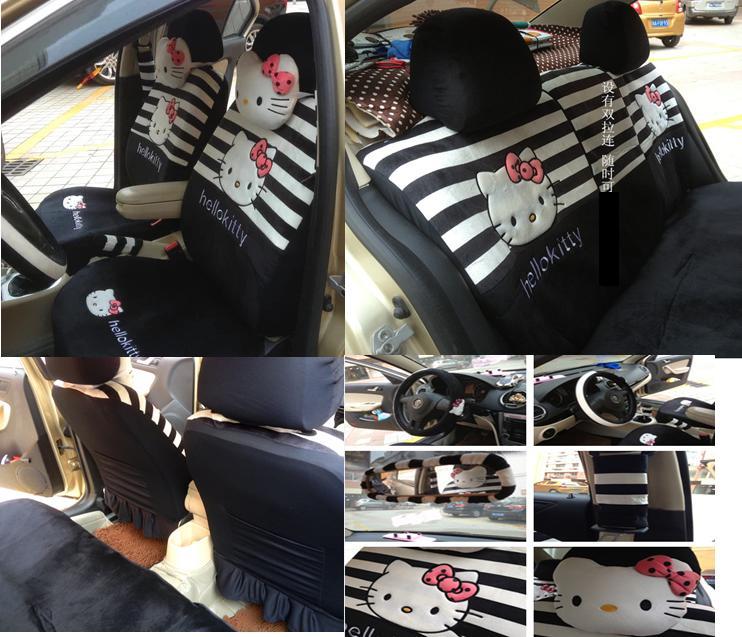 Car Seat Cover Hello Kitty Zebra
