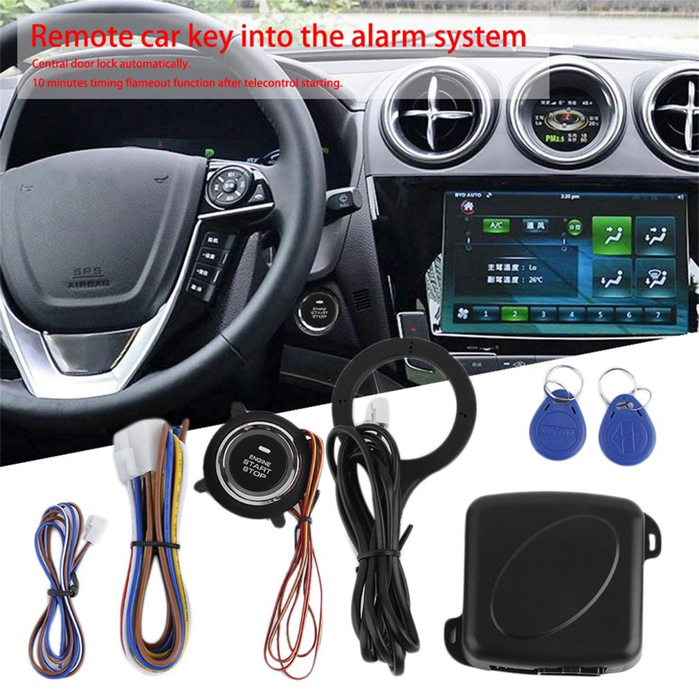 Car Smart Start System Push Engine Start Button Engine Lock Ignition S..