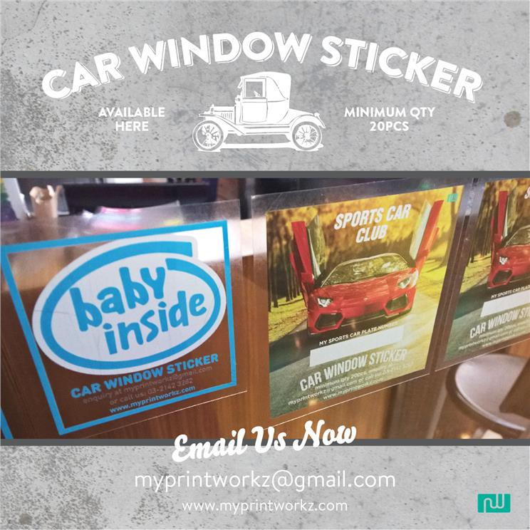 Car static clings stickers for window display