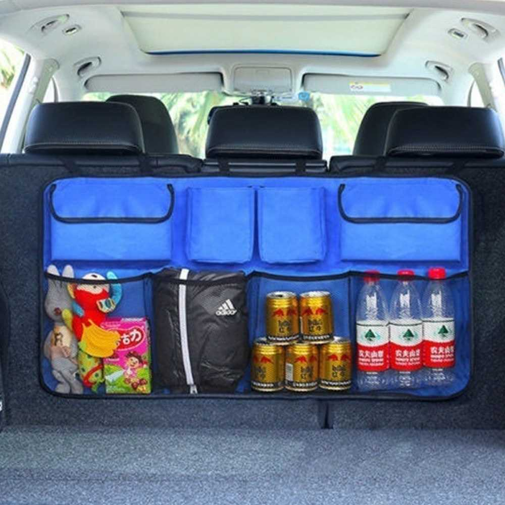 Car Storage Bag with Large Capacity Net Pocket Universal Auto Backseat
