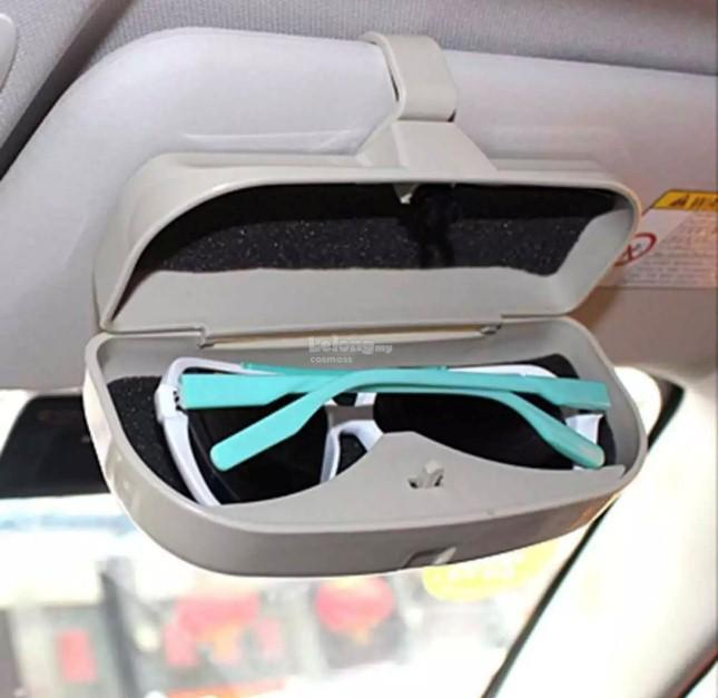 Car Sunglasses Box Case Organizer Holder Visor Sunshade Pockets -BLACK