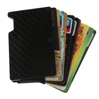 ce2f8cdc228 Carbon Fiber Anti-thief Men Wallet Money Clip Card Holder (BLACK)