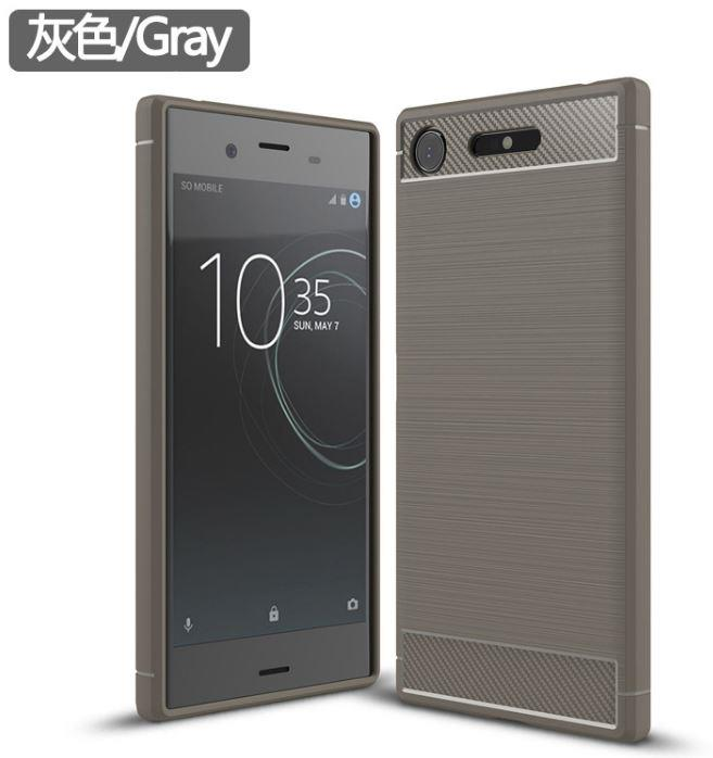 Carbon Fiber Pattern Case Sony Xperia XZ1 Casing Cover