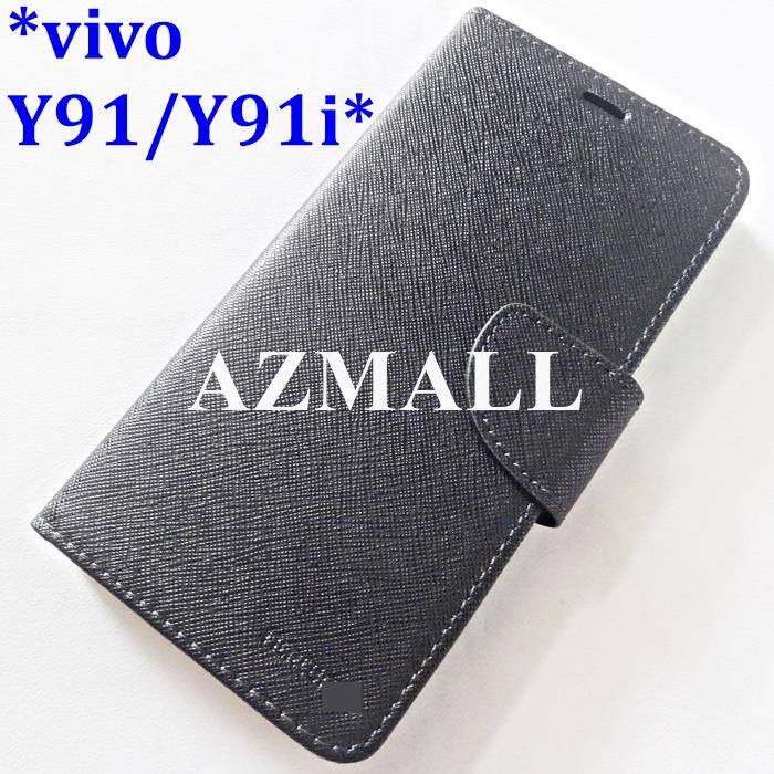 Card Slot MERCURY Fancy Diary Case Book Flip Cover vivo Y91 /Y91i