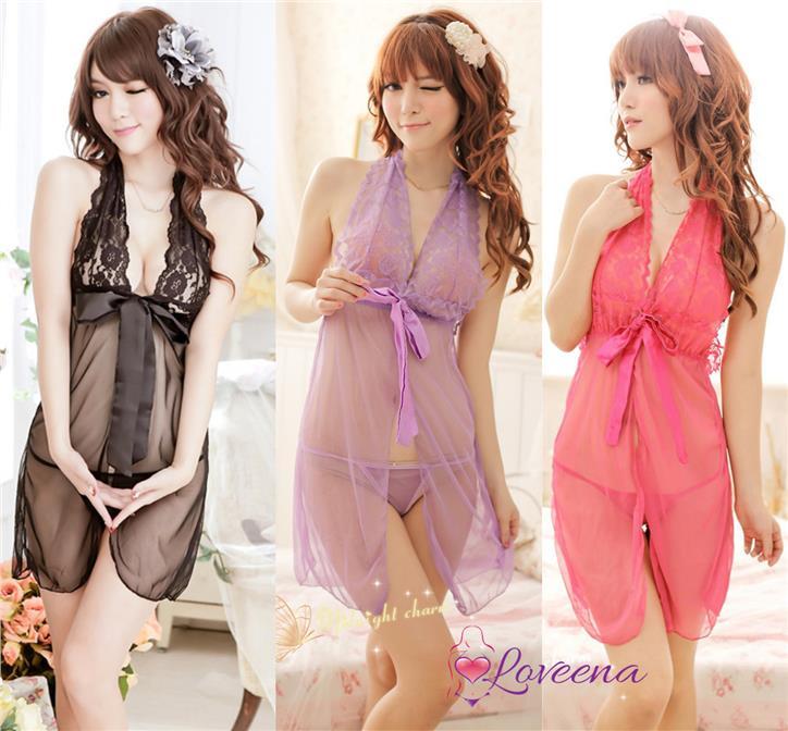 bbbf782fd9 Cardigan Dress Sexy Lingerie Pyjamas Nightwear Sleepwear L1112. ‹ ›
