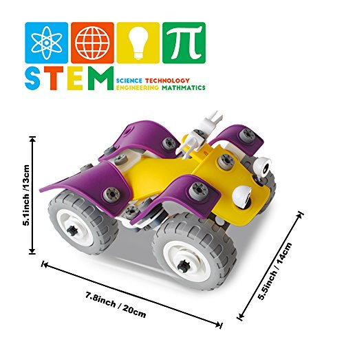 CARLORBO 4 Model in 1 Building Toys - Kids STEM Toys Educational Building Bloc
