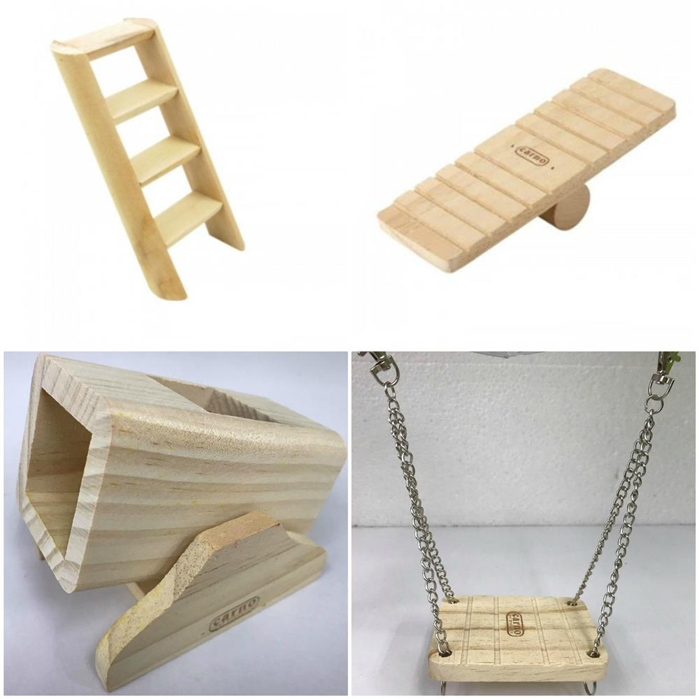 Carno Wooden Seesaw Ladder Hamster Accessories