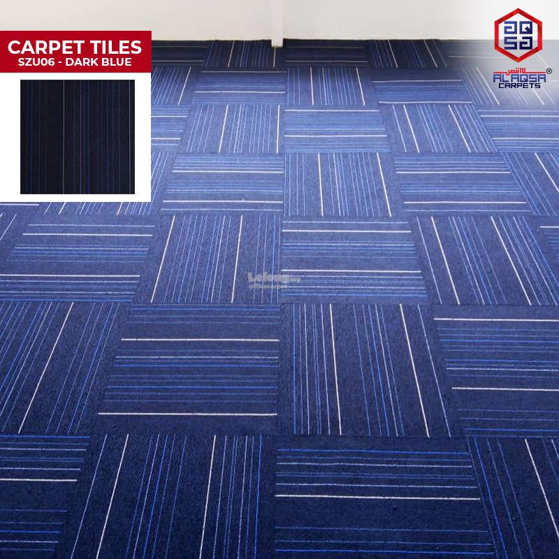 CARPET TILES DARK BLUE SZU06