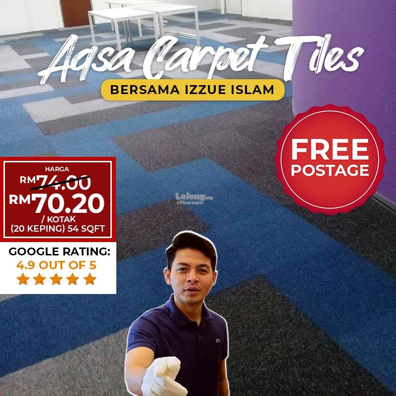 CARPET TILES VOC CELCOM BLUE