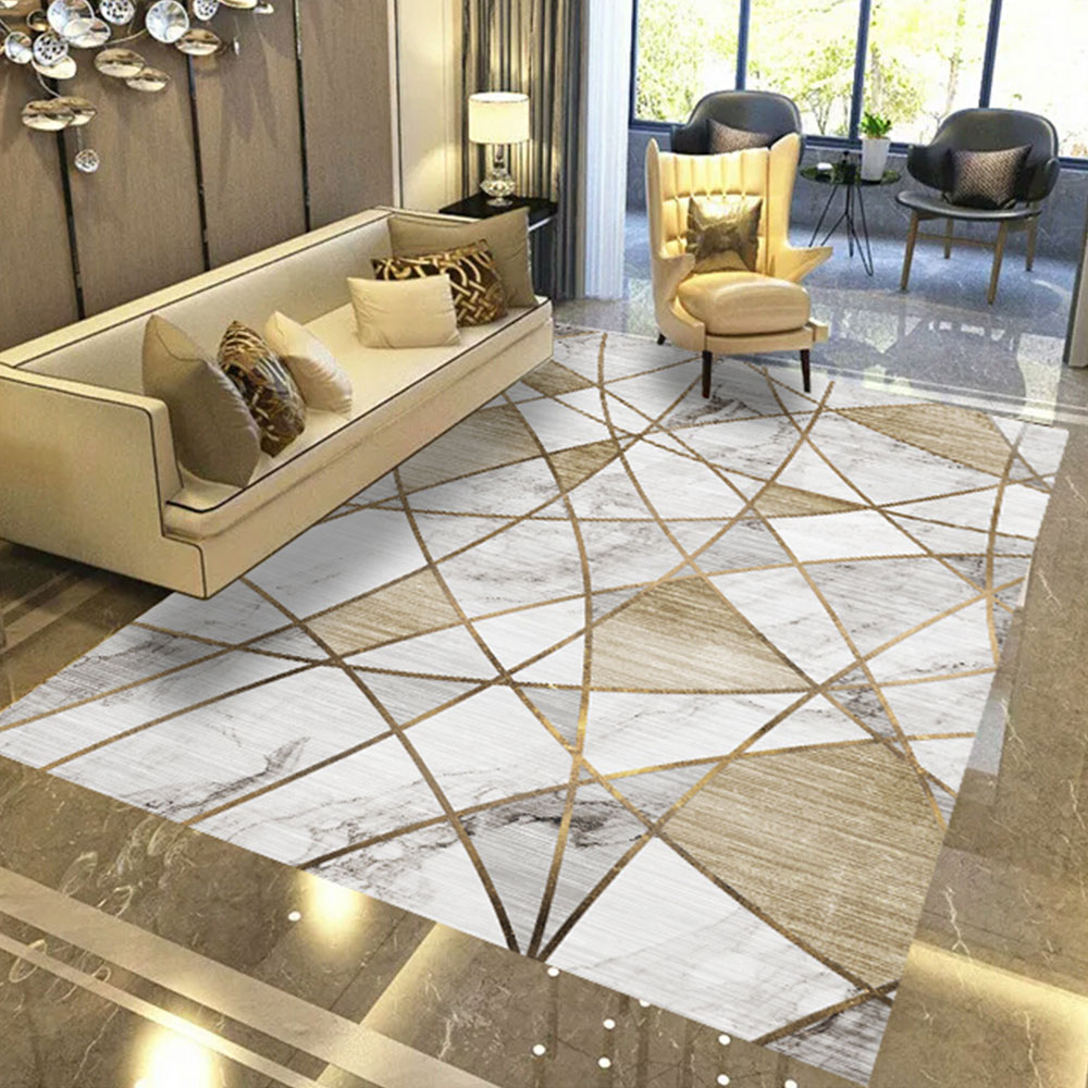 Carpets Rugs Living Room Floor Mat Modern Creative Color Block B