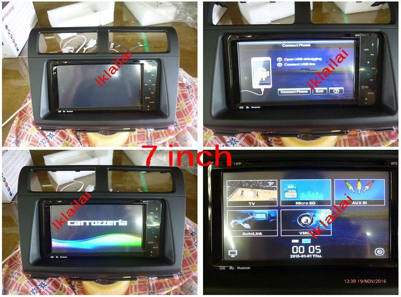 Carrozeria Myvi/Icon 7' Mirror Link Android OEM PnP DVD Player+ Casing