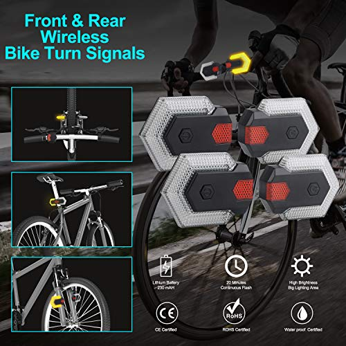 CarryBright Bike Tail Lights Turn Signal for Front and Rear Bicycle Safety, Wi