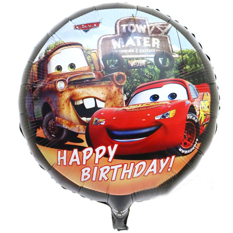 Cars Happy Birthday Aluminum Foil Balloon