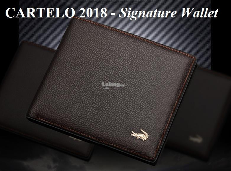 CARTELO 2018 - Signature Short Leather Wallet for men