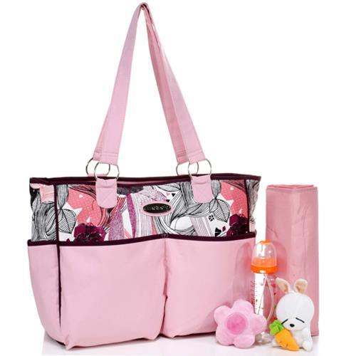Carters Baby Diaper Bag In Pink Fl