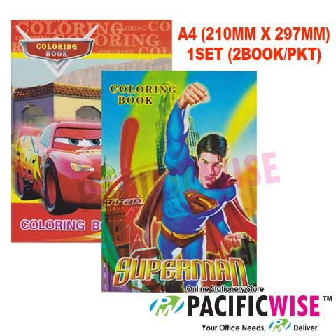 CARTOON BOOK - COLORING BOOK SBS-0088 (2PCS/PKTS)