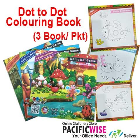 CARTOON BOOK - SMART COLOUR DOT TO DOT TG-1602 (3PCS/PKTS)
