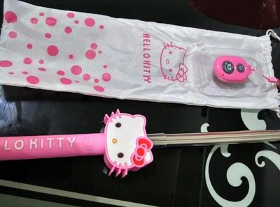 Cartoon Cute New Hot Hello Kitty Wire Bluetooth Selfie Stick Monopod