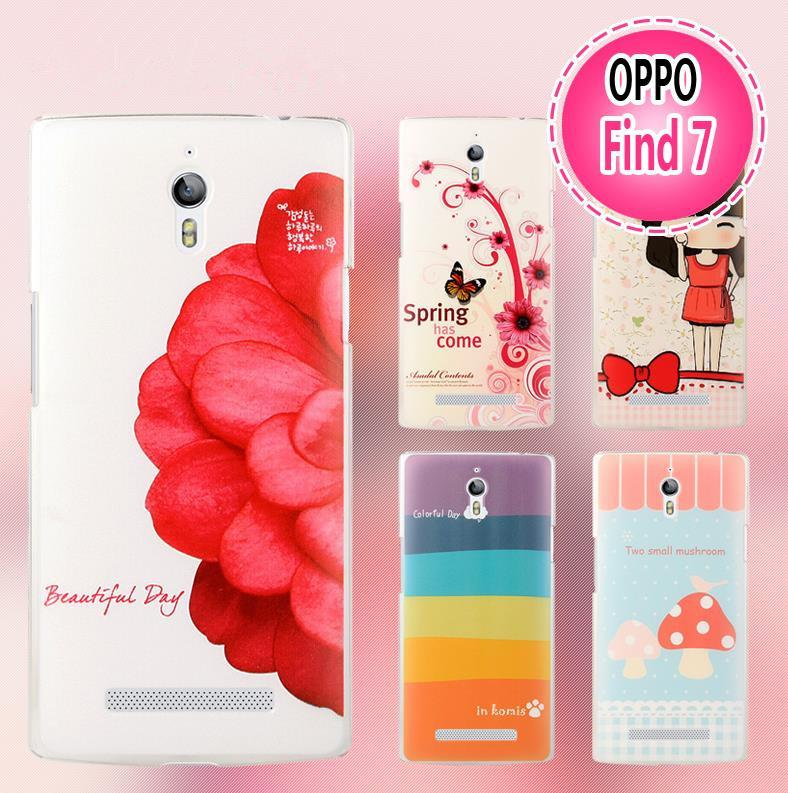 Cartoon Design OPPO Find 7 7A Hard Back Case Cover + Free SP