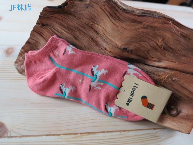 Cartoon horse animal style pony short socks