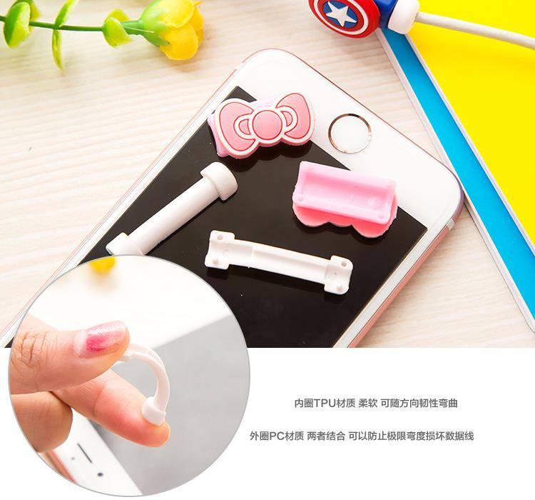 Cartoon IPhone IPad USB Cable Cord Protector
