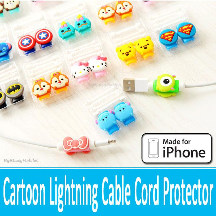 cartoon lightning cable cord protector ipad mini 3 4 iphone 5s 6s plus