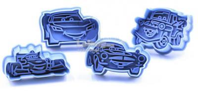 Cartoon Mcqueen Car Plunger Cutter Set 4 pcs 1604B