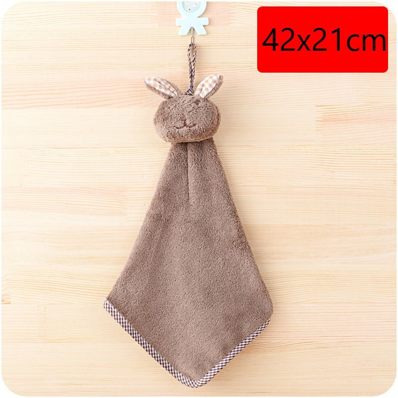 Cartoon Rabbit Hand Towel Microfiber Towels Quick-Dry Cleaning Rag Dish Cloth