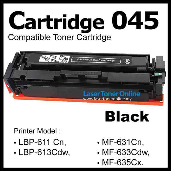 Cartridge 045/CRG045 Compatible CANON MF635Cx MF633Cdw MF631Cn Black