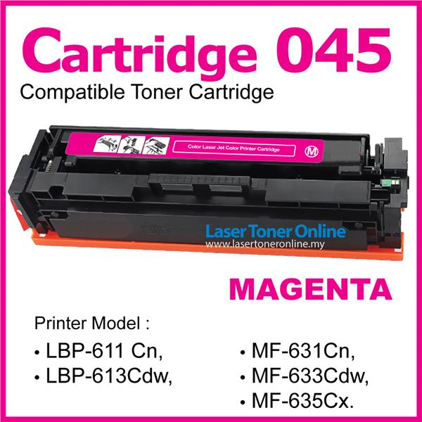 Cartridge 045/CRG045 Compatible CANON MF635Cx MF633Cdw MF631Cn Magenta