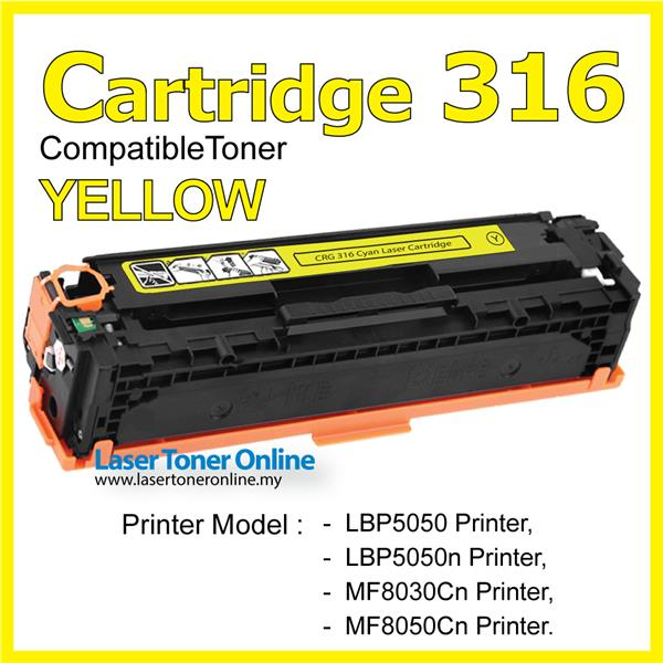 Cartridge 316 Canon316 Compatible Canon LBP 5050 MF 8030 8030cn Yellow