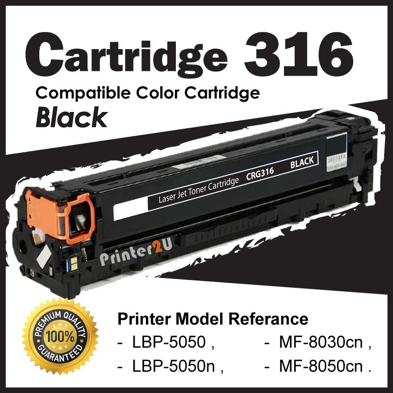 Cartridge 316/CRG316 Black Compatible Canon LBP5050 LBP5050n MF 8050cn