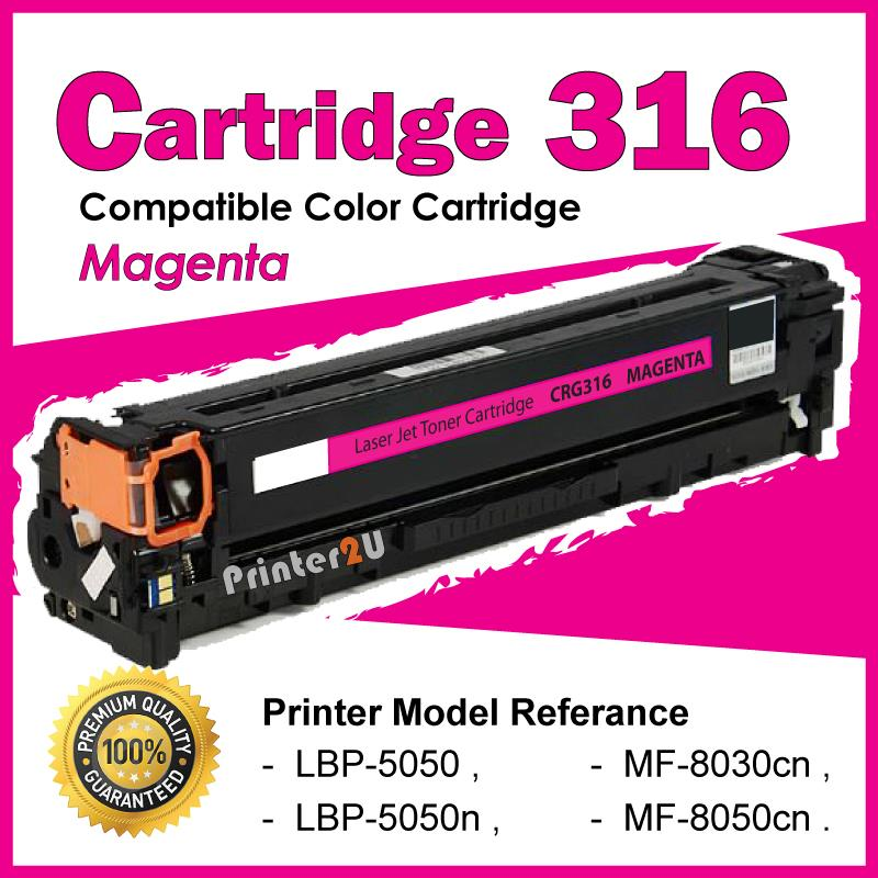 Cartridge 316/CRG316 Magenta Compatible Canon LBP5050 MF8030 MF8050cn