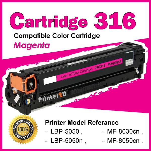 Cartridge 316/CRG316 Magenta Compatible Canon MF 8030cn 8050cn LBP5050