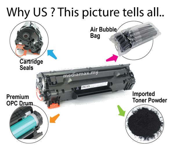 Cartridge 325@Compatible Canon LBP 6000 6018 6030 6030w MF3010 Toner