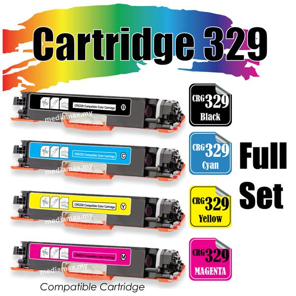 Cartridge 329 Canon329 Compatible Canon LBP7018 LBP7510 Color Full Set