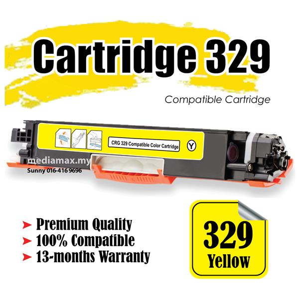 Cartridge 329 CRG329 Y Compatible Canon LBP 7018 7018C 7510 7510C CRG