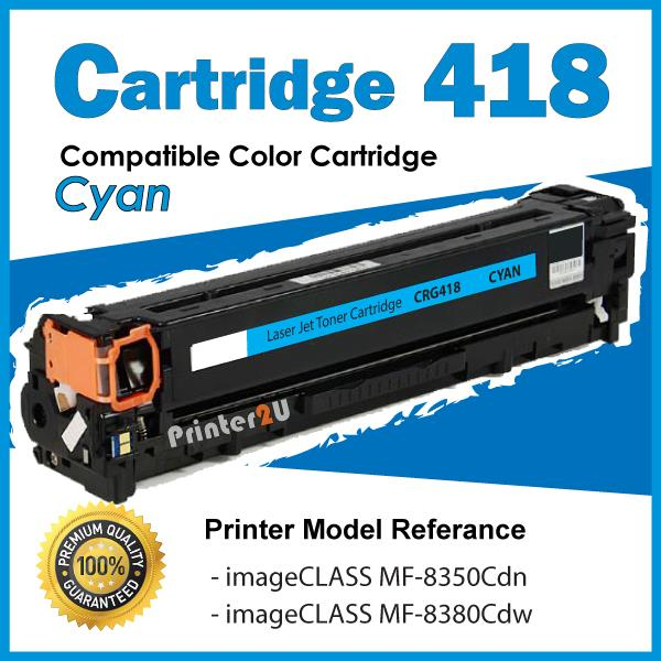 Cartridge 418/Cartridge418 Compatible Canon MF8350 MF8380 Cyan Toner