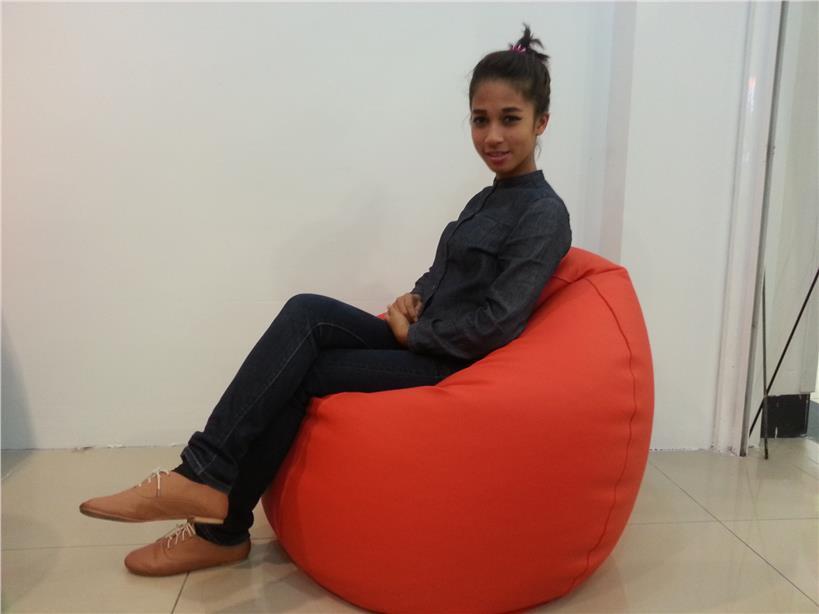 Casa Leather Bean Bag Chair Sofa Stool Furniture Kerusi Perabot Rumah
