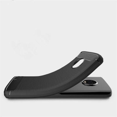 separation shoes 63a62 d3280 Case for Moto G6 Shockproof Back Cover Solid Color Soft Carbon fiber (BLACK)