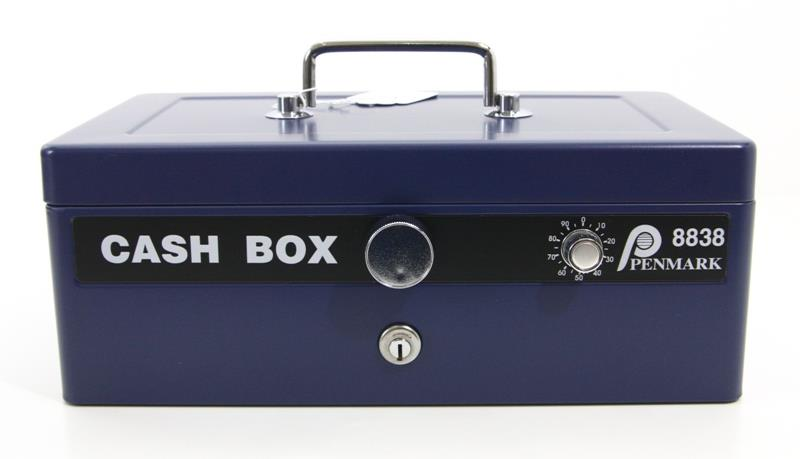 Cash Box Key and Number Combination Lock Petty Cash Safety Box